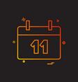 calendar date icon design vector image