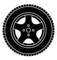 car wheel black white symbol vector image vector image