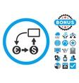 Cashflow Euro Exchange Flat Icon with Bonus vector image vector image