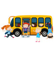 children on a school bus vector image