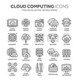 cloud computing internet technology online vector image vector image