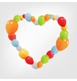 Colorful Heart from balloons vector image