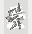 conceptual poster or t shirt design with guns char vector image vector image