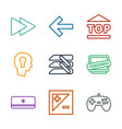 control icons vector image vector image