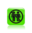 couple banned icon vector image vector image