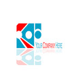 creative business logo vector image vector image