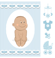 Cute African baby boy vector image