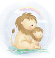 cute mommy and balion together vector image vector image