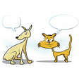 Dog and Cat Cartoon vector image vector image