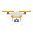 drone or quadcopter wireless device uav vector image vector image