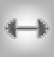 dumbbell weights sign pencil sketch vector image vector image