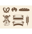 Elements for vintage bakery logotypes logos vector image vector image