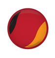 empty german campaign button vector image vector image