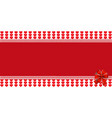 festive wrapped template with ribbon on striped vector image vector image