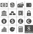 Financal icons set - simplus series vector