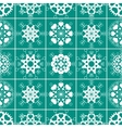 Heart snowflake seamless pattern Christmas vector image