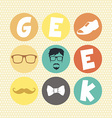 hipster retro geek vector image
