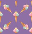 ice cream seamless pattern background dessert vector image vector image