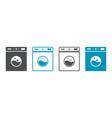 icon laundry machine logo wash service vector image vector image
