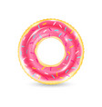 inflatable ring looking like donut isolated vector image