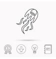 Jellyfish icon Marine animal sign vector image vector image