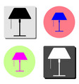lampshade flat icon vector image vector image
