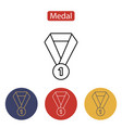 medal icon isolated on white background vector image vector image