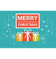 Merry Christmas Concept vector image vector image