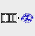 outline electric battery icon and scratched vector image vector image