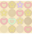 pattern with stars and hearts vector image vector image