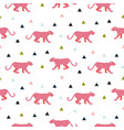 pink panther animal seamless pattern vector image vector image