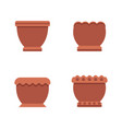 pots of brown color collection vector image vector image