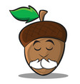 praying acorn cartoon character style vector image vector image