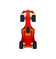 red racing car speeding motor racing bolid top vector image
