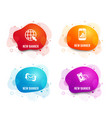 refresh mail graph phone and internet icons pay vector image vector image