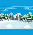 scene with snow on the ground vector image