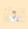 science chemistry experiment concept vector image