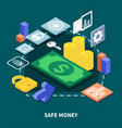 secure transaction isometric vector image vector image