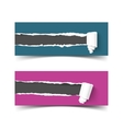 Set of banners torn paper with scroll and vector image vector image