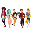 set of modern hipster college university vector image