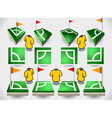 Set of Soccer Corner and Icons vector image vector image