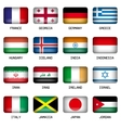 set rectangle world top states flags vector image