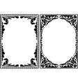 silhouette decorative borders vector image vector image