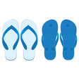 Slippers set of front view and back view isolated vector image vector image