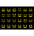 spooky halloween ghost face icon set flat design vector image