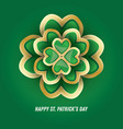 st patricks day 3d clover vector image vector image