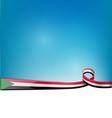 sudan ribbon flag on blue sky background vector image