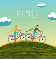 summer bicycle vector image vector image