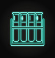 test tube icon in neon line style vector image vector image