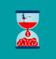 time is money businesswoman working vector image